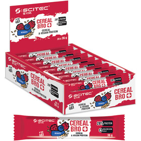 SCITEC Cereal Bro Vegan Bar Box Veganistisch 20x36g, Berries